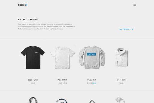 Bateaux Theme - Minimal Shop