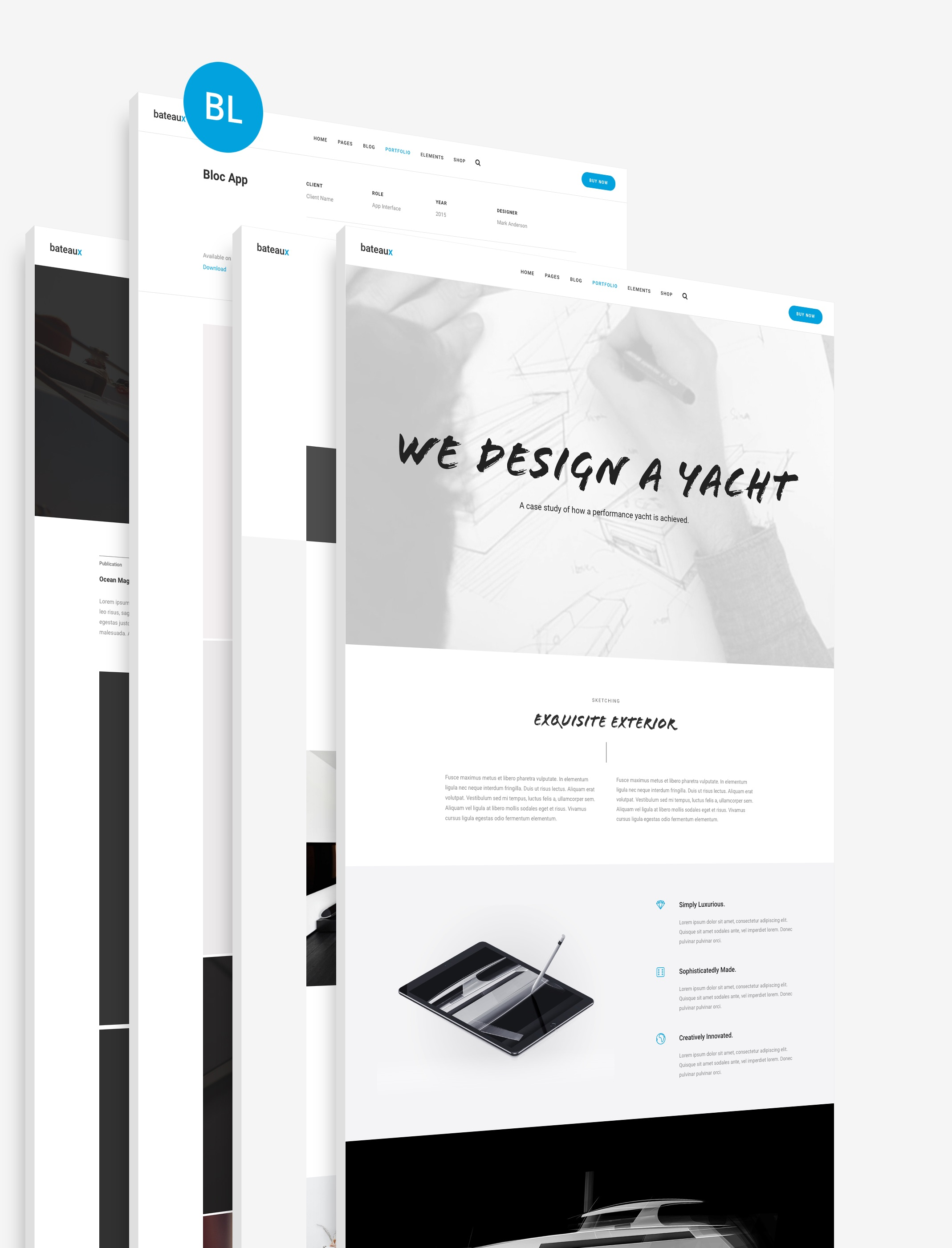 Blueprint features bateaux theme manage your template malvernweather Choice Image